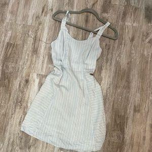 Striped Light Blue Dress